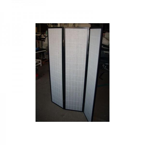 Paravent/Raumteiler aus Holz und Stoff 3teilig (132breit x 178hoch)