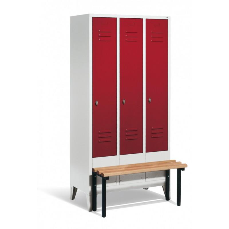 neu garderobenschrank mit sitzbank s 2000 classic schr nke b nke empfang m bel b ro. Black Bedroom Furniture Sets. Home Design Ideas