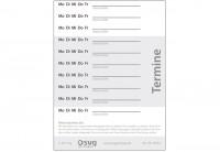 NEU Terminzettel Format A7 - 250 SD-Sätze