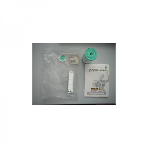 PhysioBand mit Clip(ähnlich Theraband)Grün