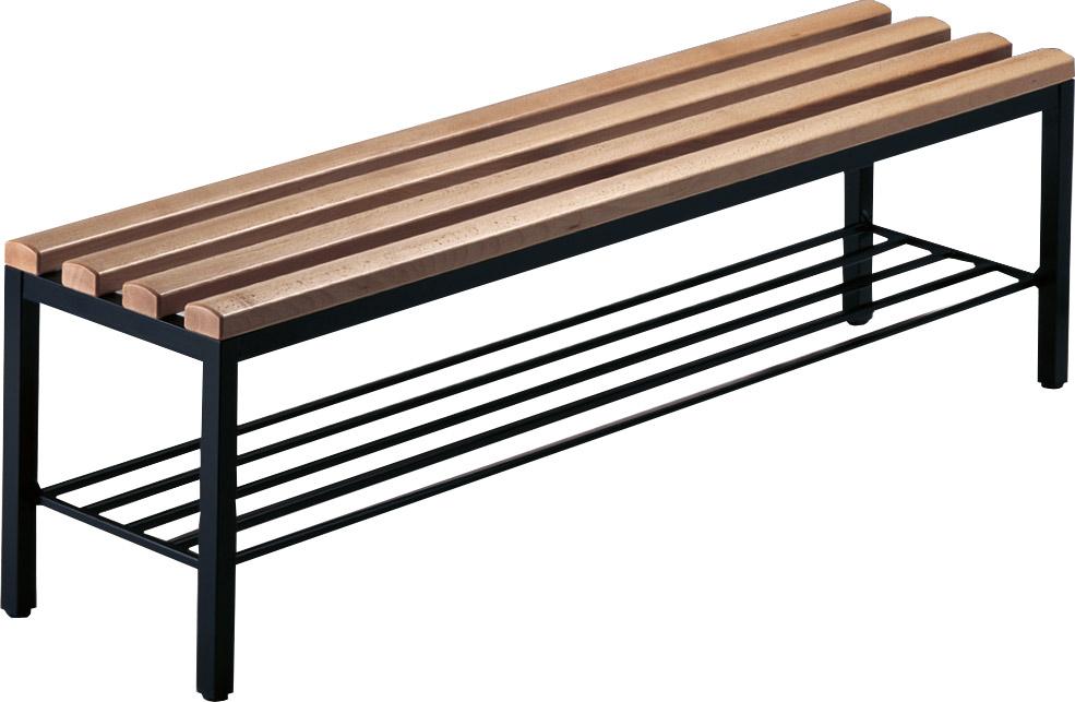 neu freistehende sitz und garderobenbank mit schuhrost schr nke b nke empfang m bel. Black Bedroom Furniture Sets. Home Design Ideas