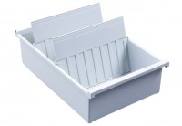NEU Karteitrog aus Kunststoff, inkl. 2 Stützplatten