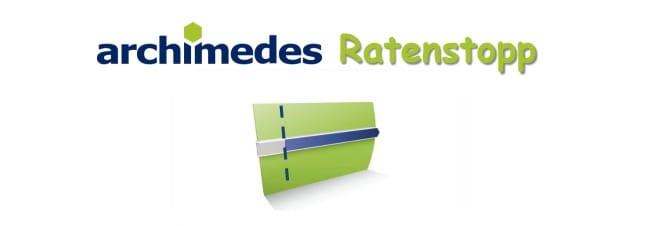 archimedes-ratenstopp
