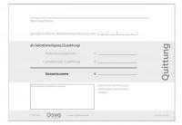 NEU Quittung selbstdurchschreibend, 250-SD-Sätze, DIN A6
