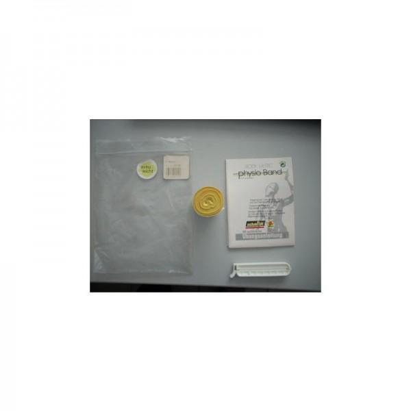 PhysioBand mit Clip(ähnlich Theraband)Gelb
