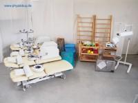 komplettes Praxispaket für bis zu 4 Räume: Bänke, Wasserbad, Elektrogerät etc.-gebraucht
