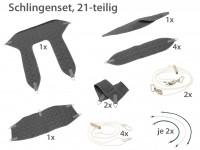 NEU Standardset Schlingenbesteck 21-teilig grau!